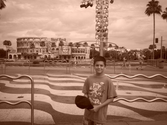 This is my son, Sebastian at Universal Orlando